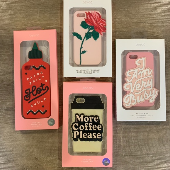 Super Cute iPhone 7 Silicone Cases , Lot of 4
